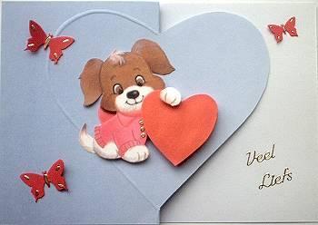Valentijns wenskaart als voorbeeld vormkaart